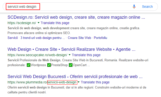 optimizare seo url